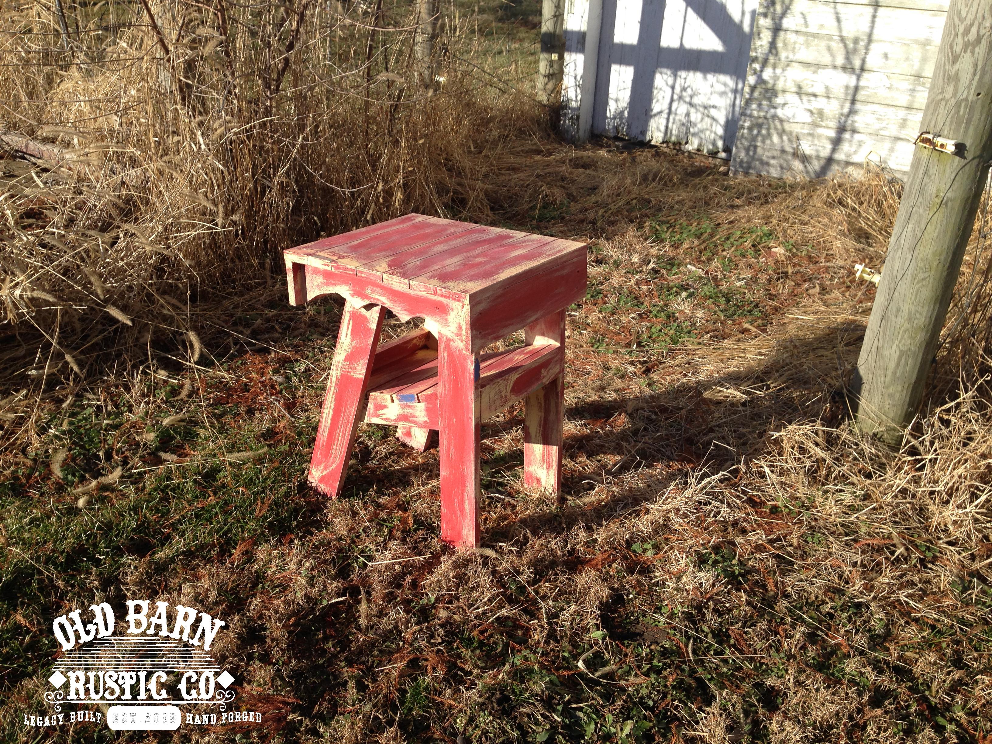 Old Barn Rustic Co 187 Farmhouse Adirondack Side Table
