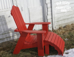 Rustic Red Adirondack Chair