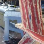 rustic Adirondack chair finish