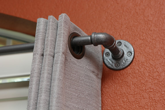 galvanized pipe towel holder