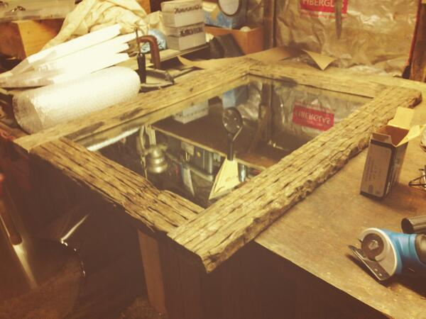 rustic theme mirror