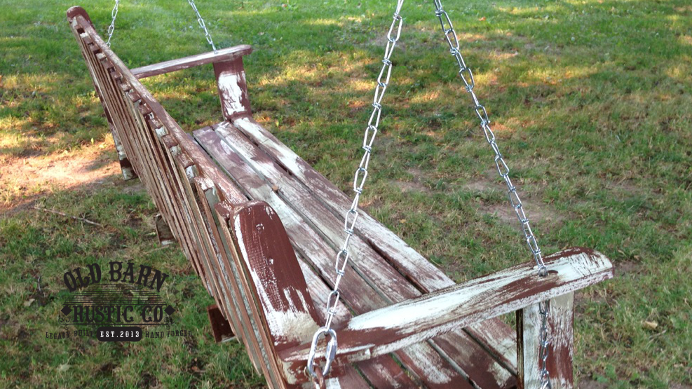 FARMHOUSE Rustic Swing by Old Barn Rustic Company