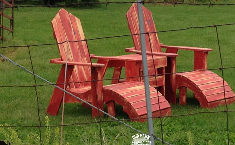 Farmhouse Rustic Adirondack Chairs